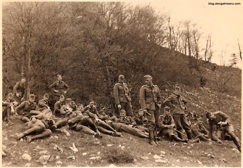 Soldati germani campand uneva in sau langa Bucuresti.