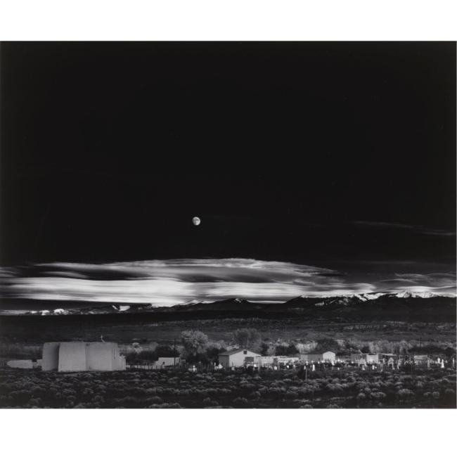 ANSEL ADAMS 1902-1984 - 'MOONRISE, HERNANDEZ, NEW MEXICO' - 37,500 USD - © Sotheby's