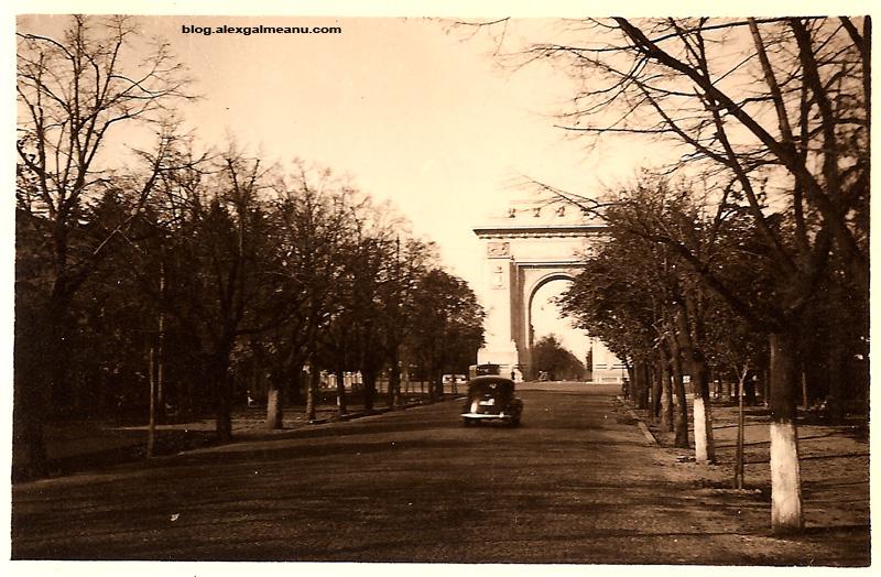 Bulevardul Kiseleff cu vedere spre Arcul de Triumf