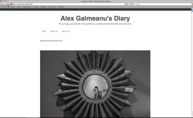 Alex Galmeanu's Diary