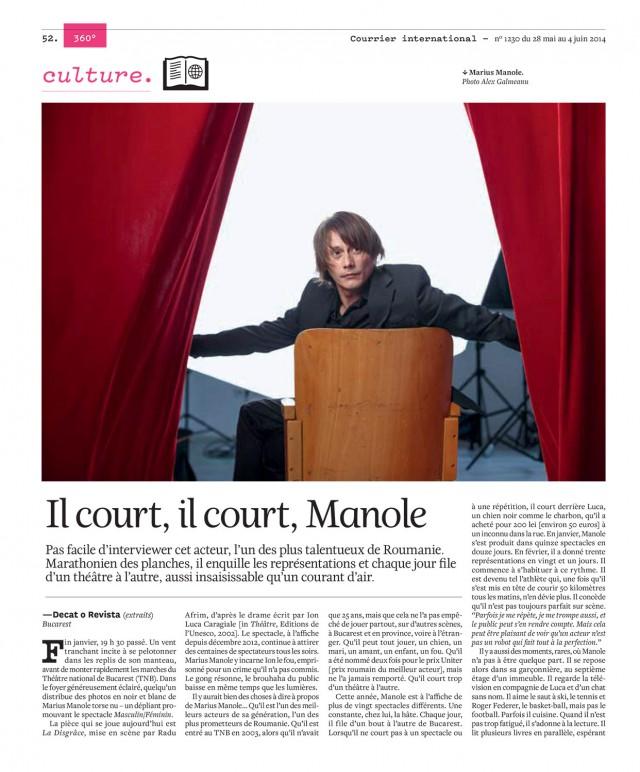 Marius Manole by Alex Galmeanu