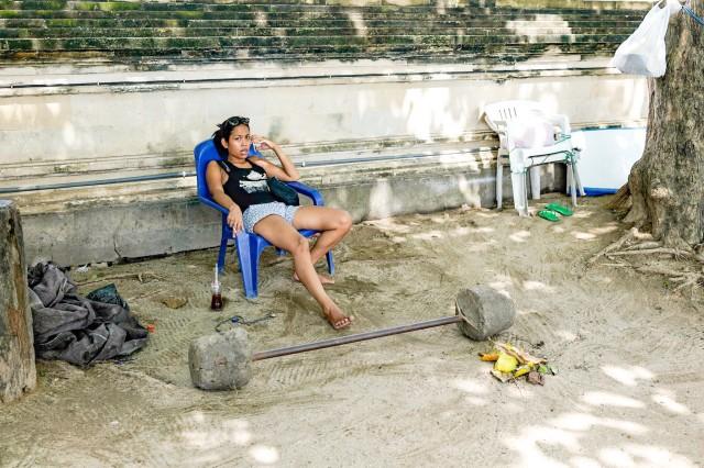 Trebuie sa platesti ca sa folosesti acea haltera, Kuta, Bali