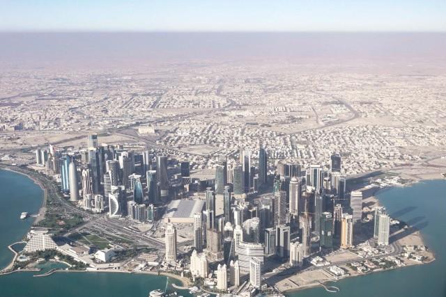 Doha, Qatar, vazuta din avion.