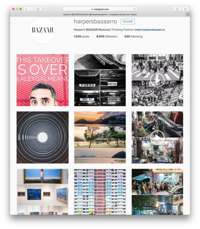 Harper's Bazaar Instagram Takeover